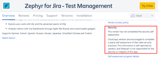 Zephyr for Jira - Test Manangement